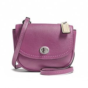 COACH Park Leather Mini Crossbody Rose